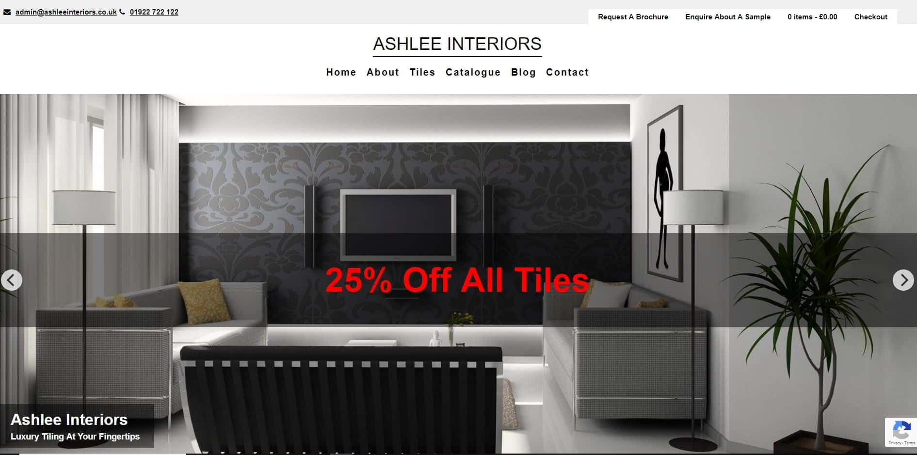 woocommerce website Ashlee Interiors