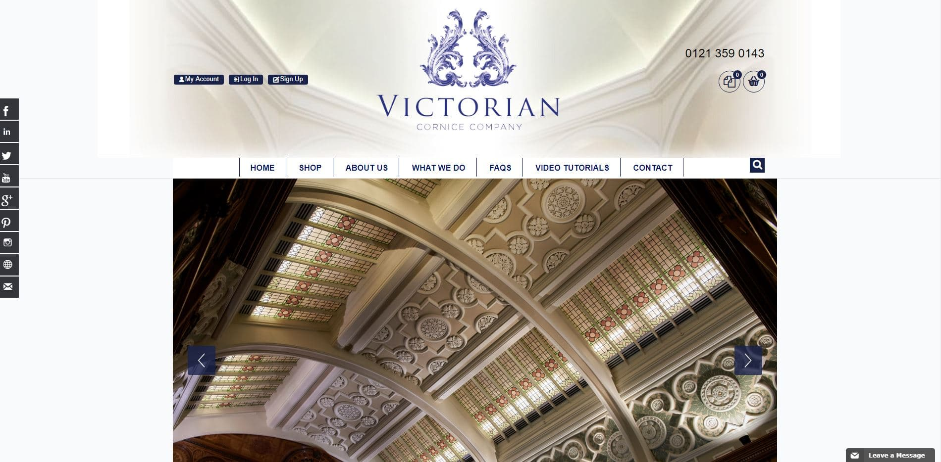 Victorian Cornice Magento Website Solution
